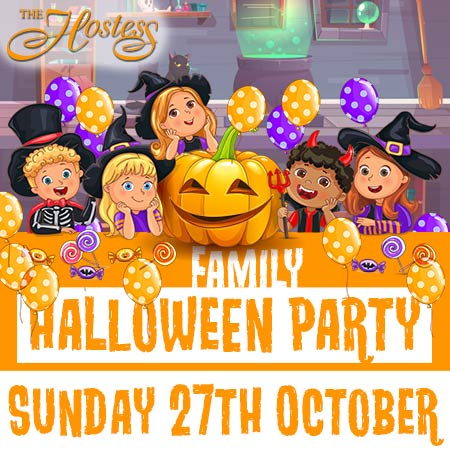 family halloween party night