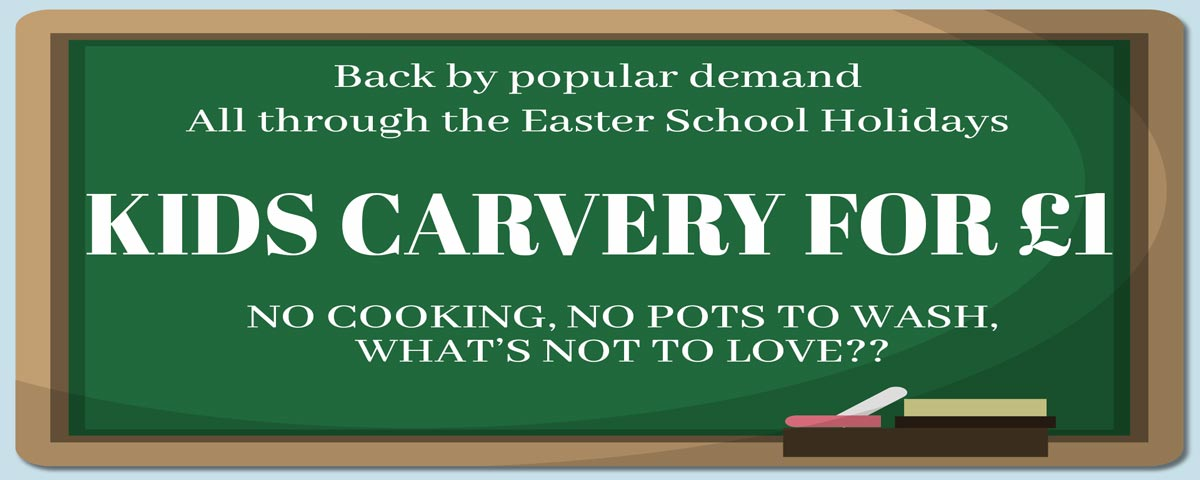 kids eat carvery for £1