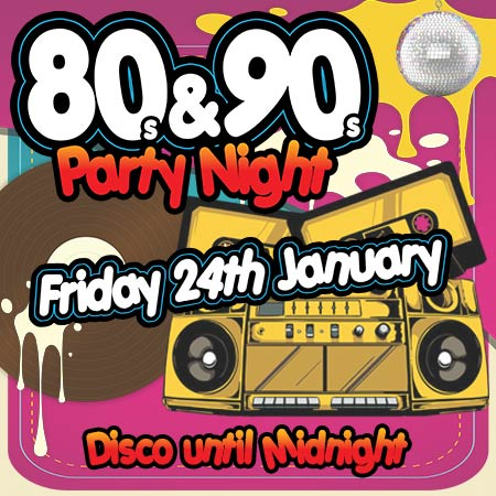 80s and 90s party night