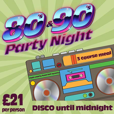 80s & 90s party night