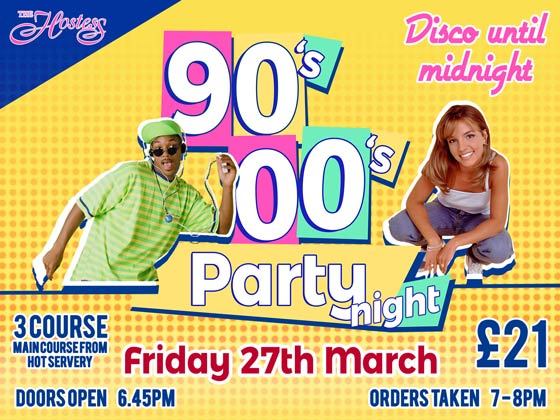 90s and 00s party night
