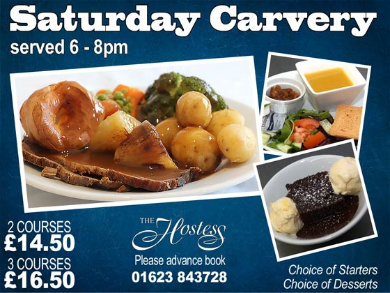 saturday night carvery